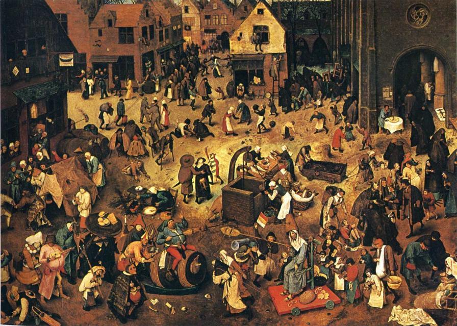 A luta entre o Carnaval e a Quaresma. Pieter Bruegel o Velho. 1559