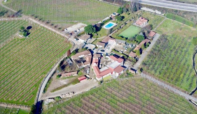 Vista aérea da Quinta de Maderne
