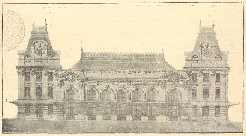 Estação de São Bento - Imagem da Gazeta dos Caminhos de Ferro 1905