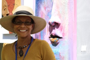 Janine Monroe, artist at Festival on Ponce art festival.