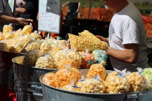 Moose Head kettle corn and popcorn for sale at Festival on Ponce art festival