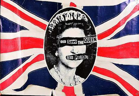God Save The Queen Sex Pistols Union Jack Elizabeth