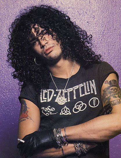 Slash Wearing Led Zeppelin Shirt