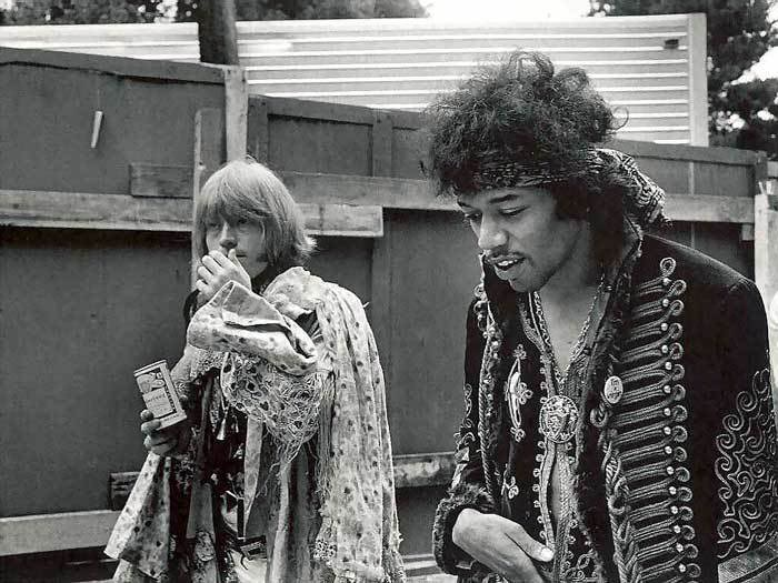 Jimi Hendrix Brian Jones The Rolling Stones