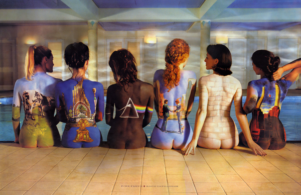 Pink Floyd Back Catalogue Body Paint Poster