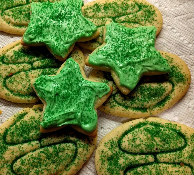 Jubilee Cookies and Frosted Green Stars!