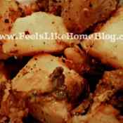 Tangy Pan-Fried Potatoes featuring Nakano Rice Vinegar