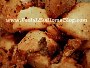 tangy pan-fried potatoes