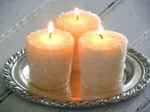 frosted candles