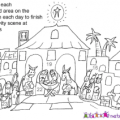 Christmas advent wreath coloring pages color the advent