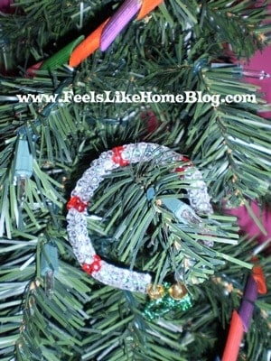 beaded wreath ornaments