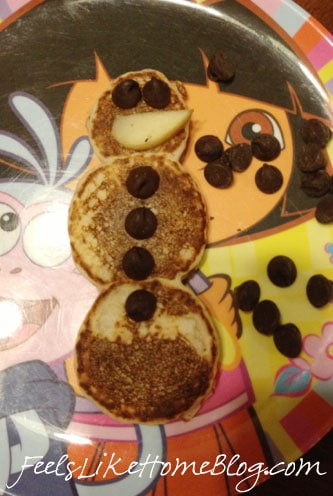 how to make snowman pancakes