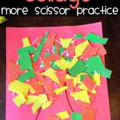 Fall Leaves Collage – More Scissor Practice