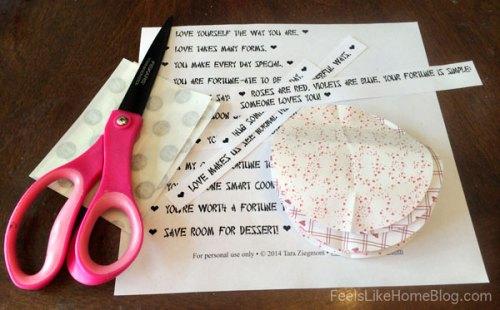 Fortune Cookie Valentines Materials