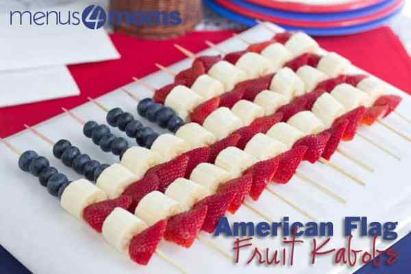 American Flag Fruit Kabobs