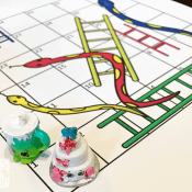 Snakes and Ladders – A Free Printable Learning Game for Kids