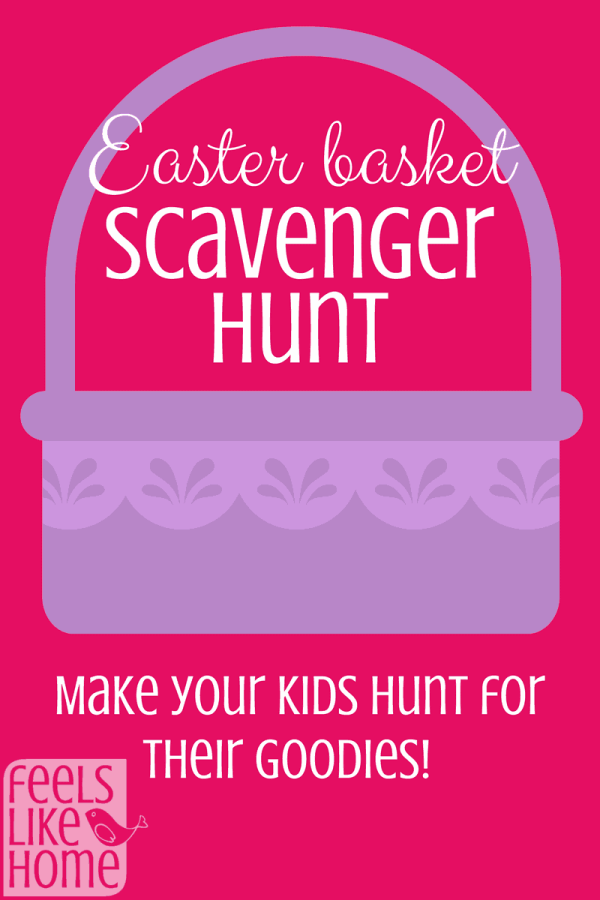 This Easter basket scavenger hunt includes free printable clues for kids or teens. Lots of ideas for families to stick in plastic eggs and hide for their children on Easter morning. Gifts and candy can be hidden along the way or saved for the Easter basket at the end!