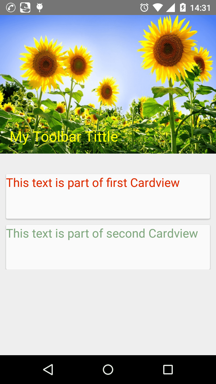 Collapsing Toolbars Android Example