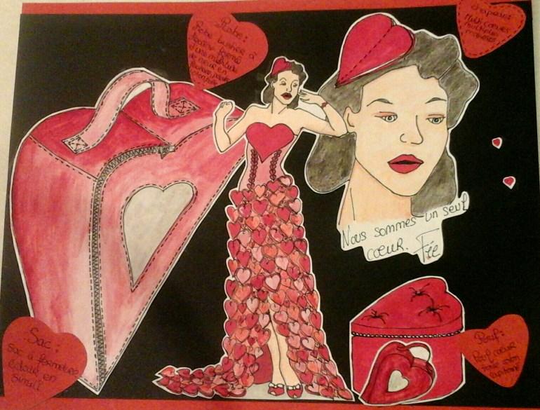 Planche dessin coeur