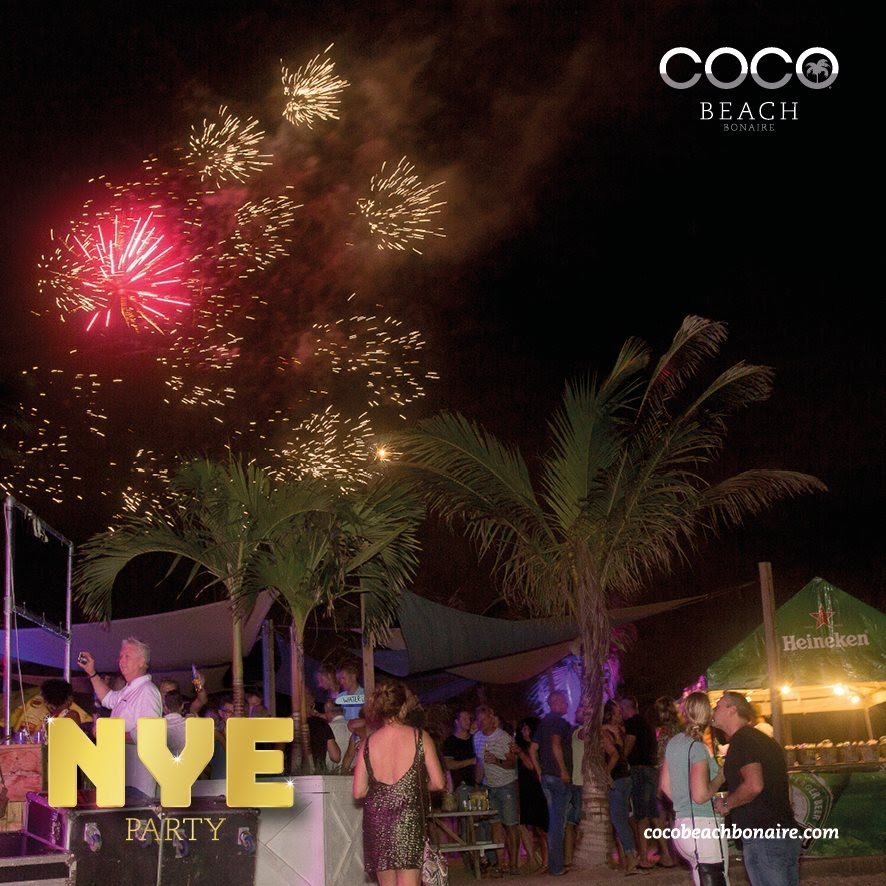 Coco Beach Bonaire Oud en Nieuw party Dutch Caribbean | feestband.com