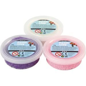 foam clay kleiset paars, roze, wit
