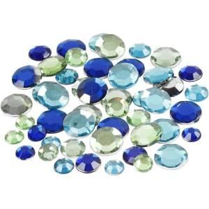 strass stenen blauw groen