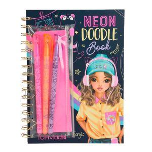 topmodel neon doodle kleurboek