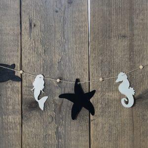 houten zeedieren slinger