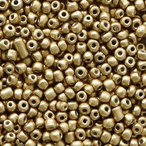 rocailles glaskralen restrainded gold