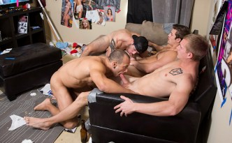 Reality Dorm Dick Dorm Fuck His Muscle Ass Bareback Gay Sex Foursome Froup Fuck Charlie Patterson Zane Anders John Culver Leon Lewis feat