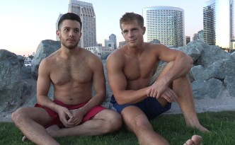 Sean Cody Nixon Manny Bareback Gay Fuck Hairy Chest Big Cock Average Cock Muscle Jock type Guy Internal CumShot feat