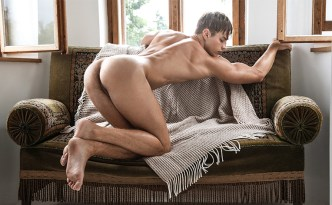 BelAmiOnline Rick Day's 'Art Collection' Hoyt Kogan Nude Model Closeup Male Feet Soles Uncut Soft Cock Outdoors Solo Photoshoot feat