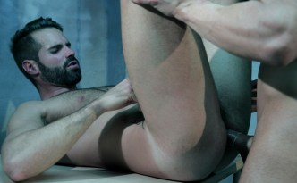 MenAtPlay HUNG Dani Robles Ronnie Bonanova Gay Condom Sex Big Uncut Spanish Cock Hairy Bottom Guy Tied Guy Hand Job feat