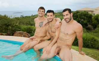 Sean Cody Puerto Rico Day 2 Randy Brysen Manny Gay Bareback Outdoor Fuck Beach Sex Threesome Big Uncut Cock Male Feet Soles feat