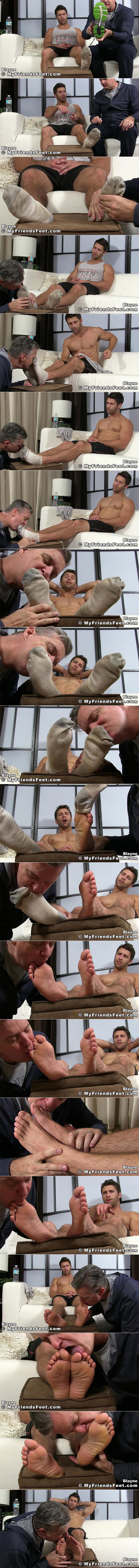 Myfriendsfeet Blayne Foot Worship Sweaty Dirty Smelly Socks Male Feet Soles Toes Licking Sucking Toes