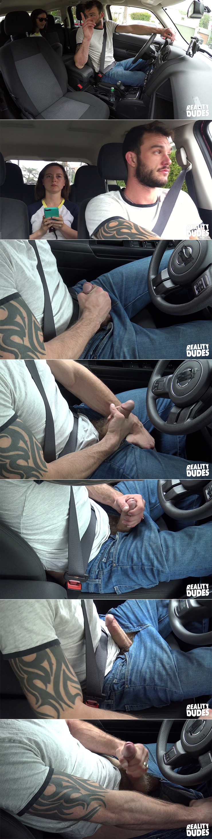Reality Dudes Dudes In Public Dirty Driver Cliff Jensen Big Cock Solo Masturbation Scene stills