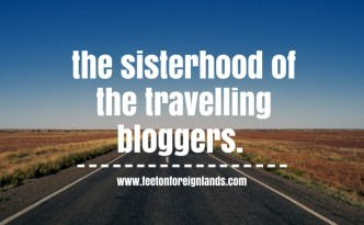 The sisterhood of the world bloggers award: www.feetonforeignlands.com