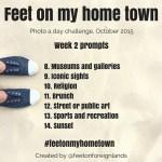 Week 1 of the #feetonmyhometown Instagram Challenge