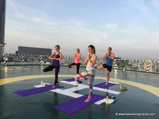 Yoga on the helipad at The Peninsula Bangkok (4)