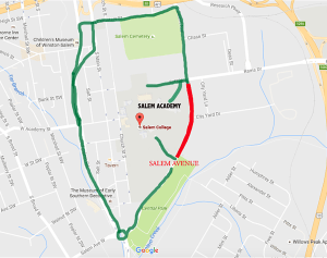 Salem Detour Map