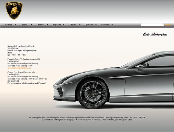 web design // Lamborghini 02