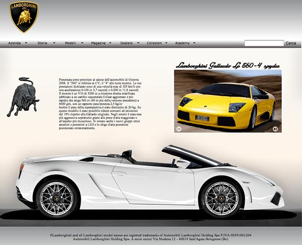 web design // Lamborghini 05