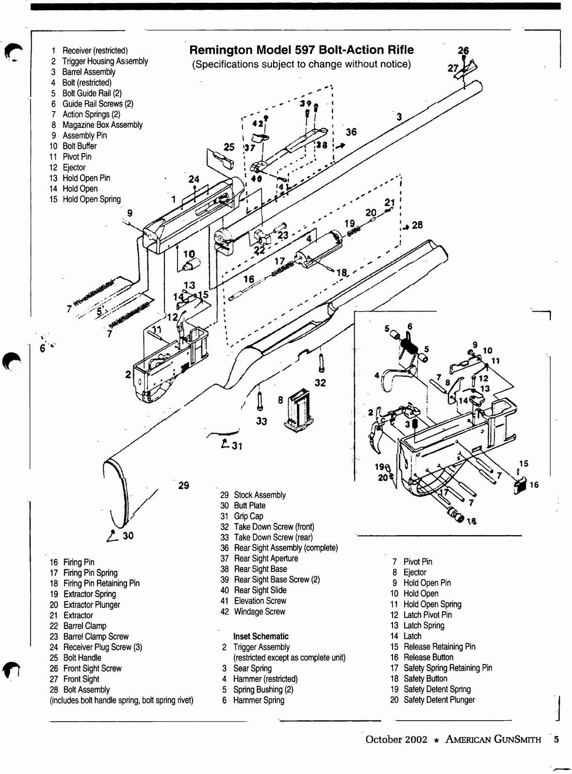 Remington 597 Parts Gallery