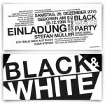 Black and White Einladungskarte