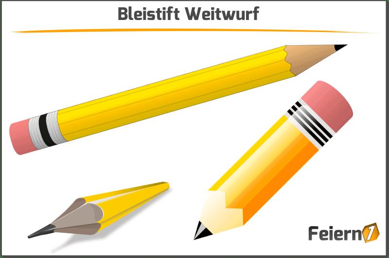 Bleistift Weitwurf