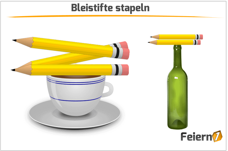 Bleistifte stapeln