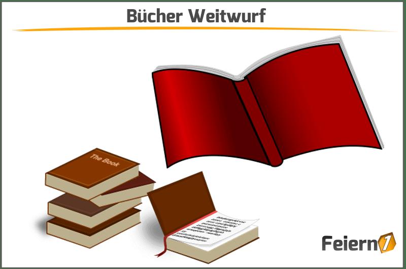 Bücher Weitwurf