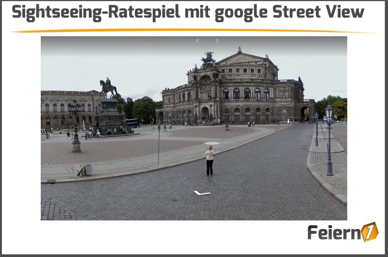 Sightseeing-Ratespiel mit google Street View