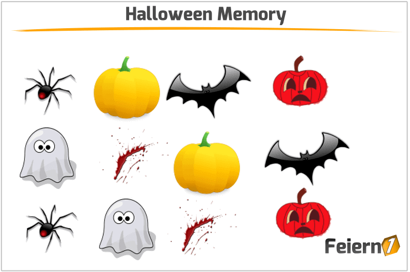 Halloween Memory Spielideen