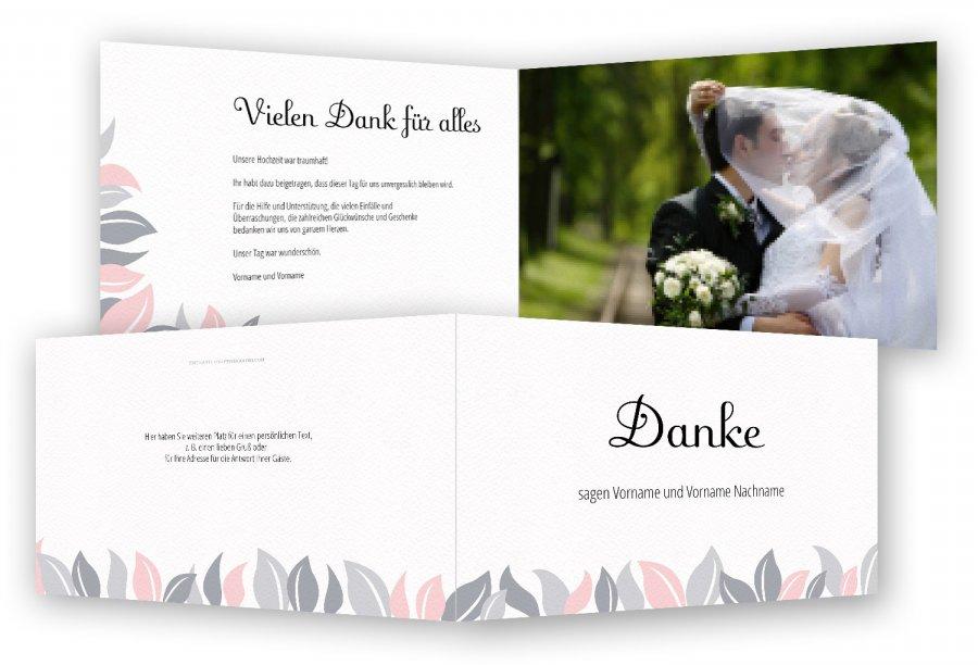 Vorlage Hochzeit Danksagung  Feinekartencom